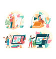 different freelance profession concept vector image
