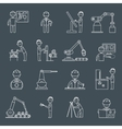 Engineering icons outline vector image vector image