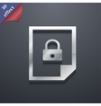 file locked icon symbol 3D style Trendy modern vector image