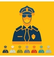 Flat design police officer vector image vector image