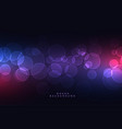 glowing circular bokeh lights night background vector image
