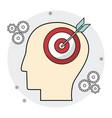 head human target brain creativity vector image