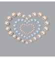 Heart symbol of brilliant diamonds vector image vector image