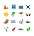 Holidays journey design elements vector image