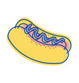 hot dog fast food icon vector image vector image
