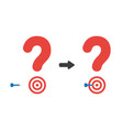 icon concept of question mark with bulls eye and vector image