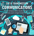 internet communication technology poster vector image vector image