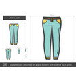 jeans line icon vector image vector image