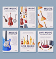 music festival banner tempates set advertisement vector image vector image