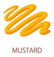 mustard icon isometric style vector image vector image