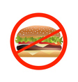 no fast food vector image vector image