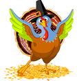 of happy thanksgiving turkey vector image vector image