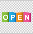 Open tag market message flat on white background