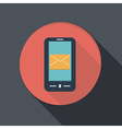 paper flat icon smartphone post envelope vector image