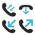 Phone Call Flat Icons vector image vector image