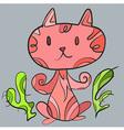 PinkCatArt vector image vector image