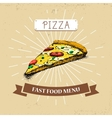 Pizza piece fast food in vector image vector image