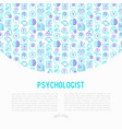 psychologist concept with thin line icons vector image