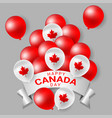 red and white party balloons for national day vector image vector image