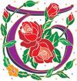 rosette letter T vector image