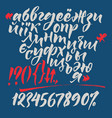 russian and ukrainian calligraphic alphabet vector image vector image
