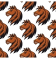 Seamless pattern with majestic stallion vector image