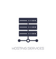 server hosting services icon on white vector image vector image