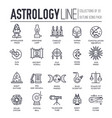 set astronomy and astrology thin line icons vector image vector image