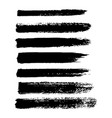 set of grunge brush strokes oil brushes vector image vector image