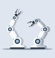 smart handy chef robot kitchen assistant concept vector image