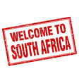 South Africa red square grunge welcome isolated vector image vector image