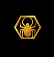 spider emblem logo animal logo design concept vector image vector image