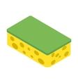 Sponge isometric 3d icon vector image vector image