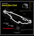 sportcar speed circuit black vector image vector image
