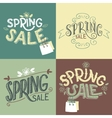 Spring sale labels set vector image vector image