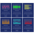 statistics and analytics color graphs collection vector image vector image