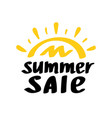 summer sale lettering vector image vector image