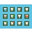 Teeth icons with various elements vector image vector image