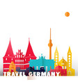 travel germany paper cut world monuments vector image vector image