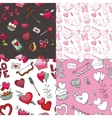 Valentine dayweddingloveSeamless pattern set vector image vector image