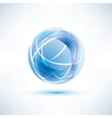 water blue abstract globe icon vector image vector image