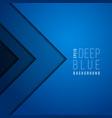 origami paper modern minimal art blue vector image
