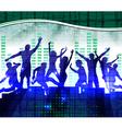 Night Club Neon Lit Background vector image