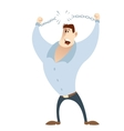 Office worker breaks his chains vector image
