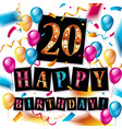 20th anniversary celebration logotype vector image
