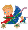 a baby sitting in a baby vector image vector image