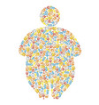 alcohol and obesity human silhouette vector image