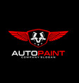 auto paint logo vector image vector image