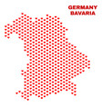bavaria land map - mosaic of lovely hearts vector image vector image