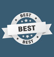 best ribbon best round white sign best vector image vector image